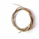 Perl Spiralled Wire  Silver Gold Brass Plated